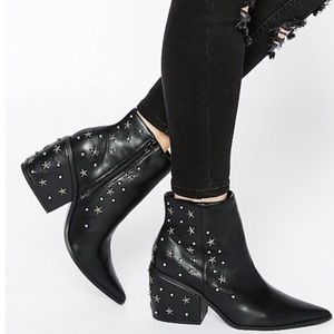 Asos El Paso Western Star Studded Ankle Boots 5/7